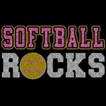 Softball Rocks Glitter